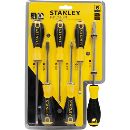 Stanley STHT66597 6pc Control Grip Screwdriver Set - General Purpose Screwdriver Set