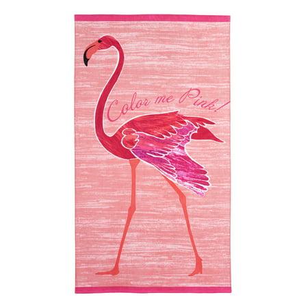 - Better Homes & Garden 100% Cotton Flamingo Printed Beach Towel, 1 Each