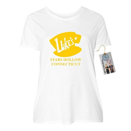 Luke's Diner Stars Hollow CT Gilmore Girls Plus Size Womens Short Sleeve T-Shirt Top