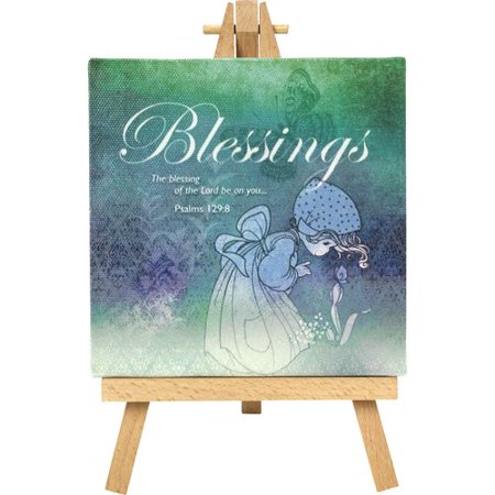 Precious Moments Blessings Home Decor Canvas with Easel 164441