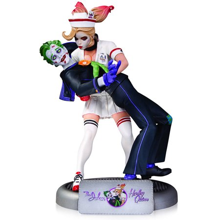 DC Comics Bombshells 10 Inch Statue Figure - The Joker And Harley Quinn - image 1 of 1