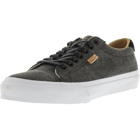 bcc9ba1b59eb Vans Court + Washed Canvas Black Ankle-High Skateboarding Shoe - 12M    10.5M - Walmart.com