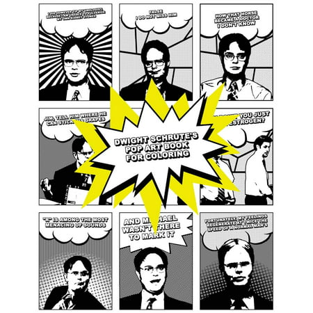 Dwight Schrute's Pop Art Book for Coloring - Pop Art Halloween Tutorial
