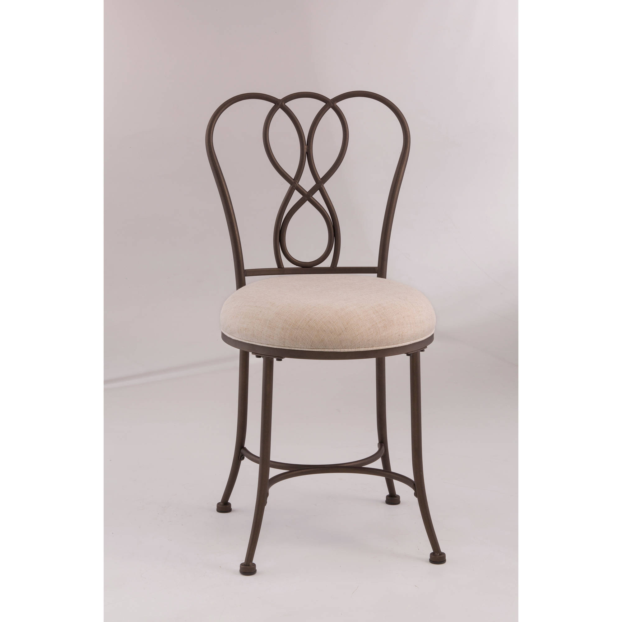 frame stool bathroom wrought backless iron white rubbed bronze oil black polished furniture vanity with stools seat curved upholstered superlative or rounded padded bench combined top