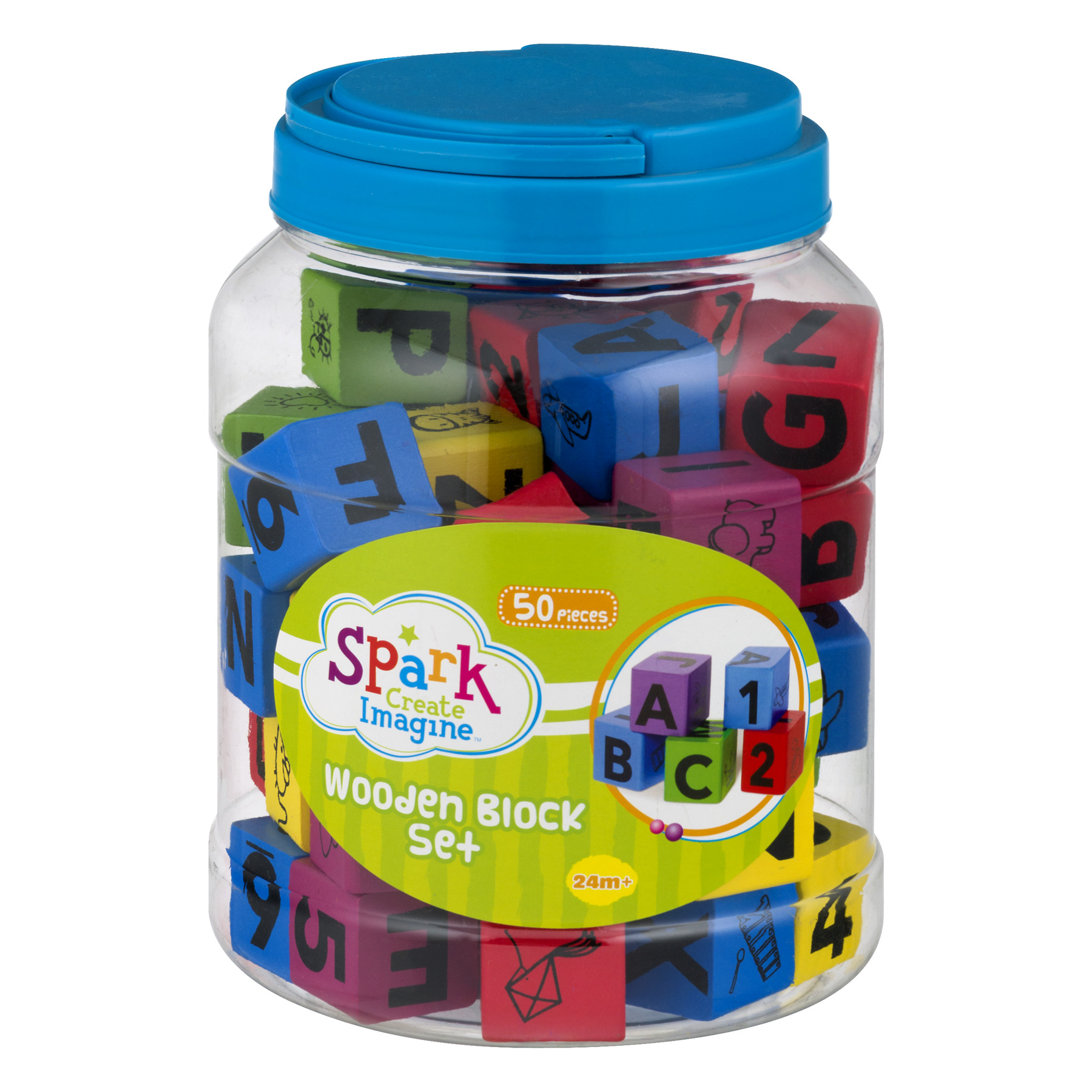 Spark Create Imagine Wooden Block Set, 50.0 PIECE(S)