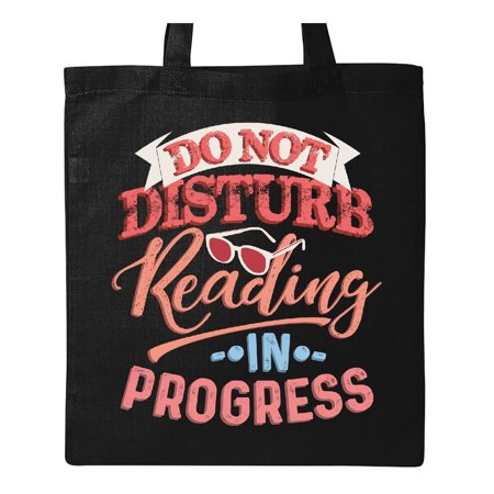 Reading In Progress Do Not Disturb Book Lover Tote Bag](Harajuku Lovers Tote)
