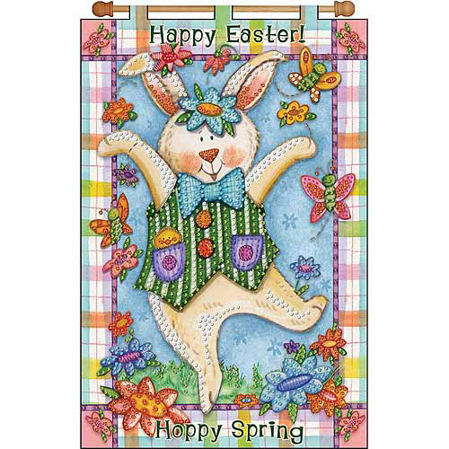 "Happy Spring Jeweled Banner Kit-16""X24"""