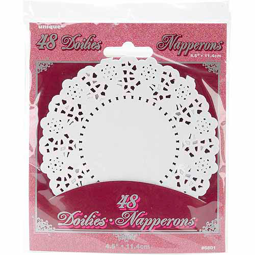 Paper Doilies, 4.5 in, White, 48ct