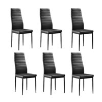 Zimtown 6 Pcs Modern Dining Chairs Dining Room Black