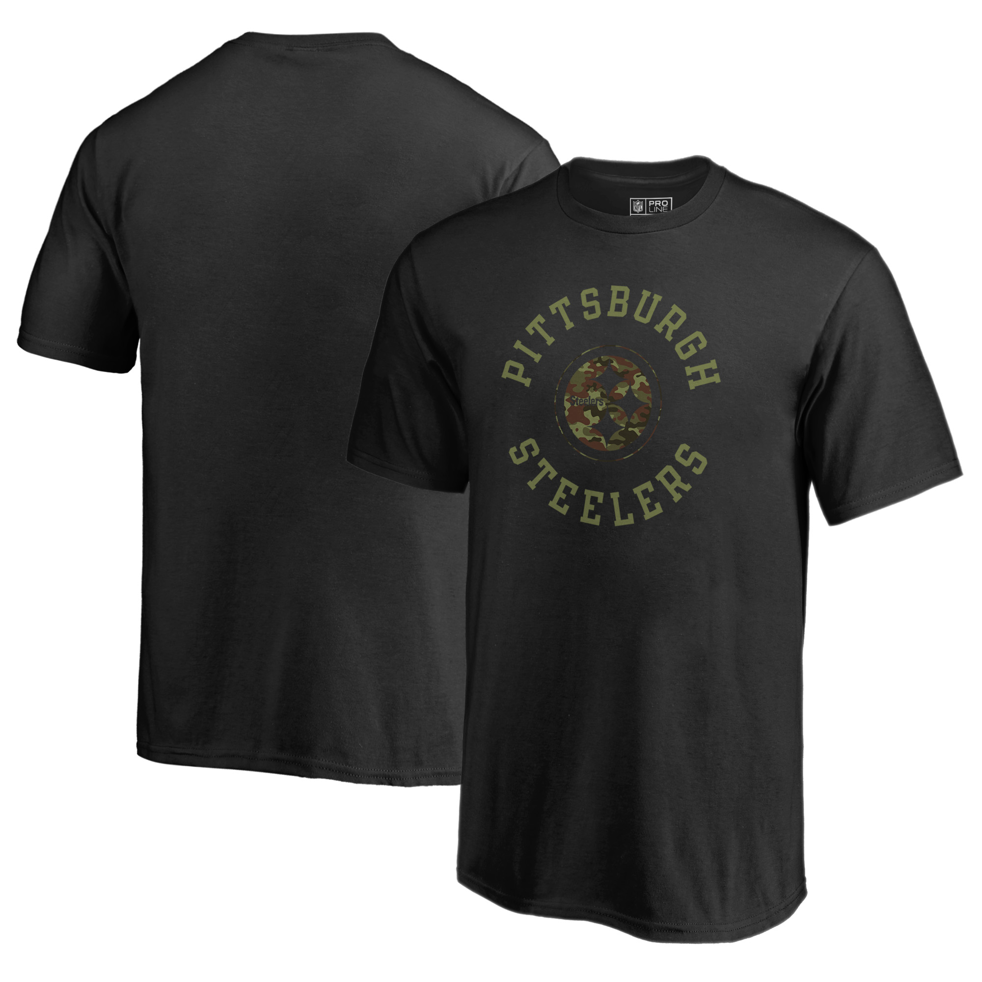 Pittsburgh Steelers NFL Pro Line by Fanatics Branded Youth Camo Collection Liberty T-Shirt - Black