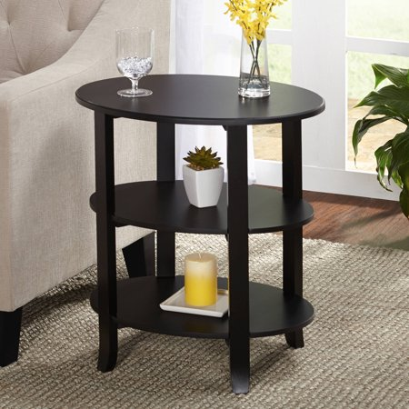 London 3-Tier Oval End Table, Multiple Finishes - Walmart.com
