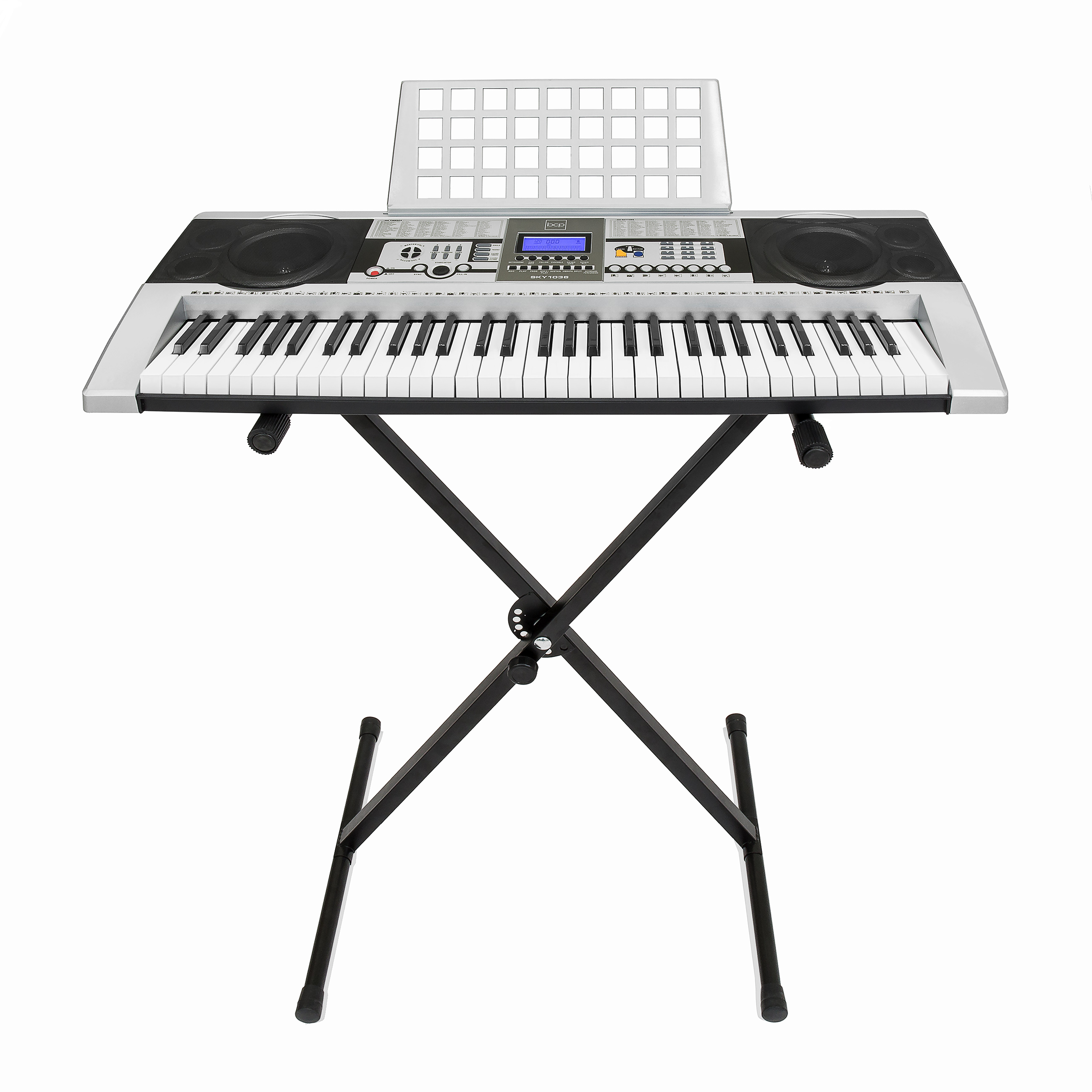 Electronic Piano Keyboard 61 Key Music Key Board Piano With X Stand Heavy Duty by SKY