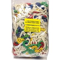 Folk Toys 1 Pound of Cotton Loops for Wooden Weaving Looper Loom