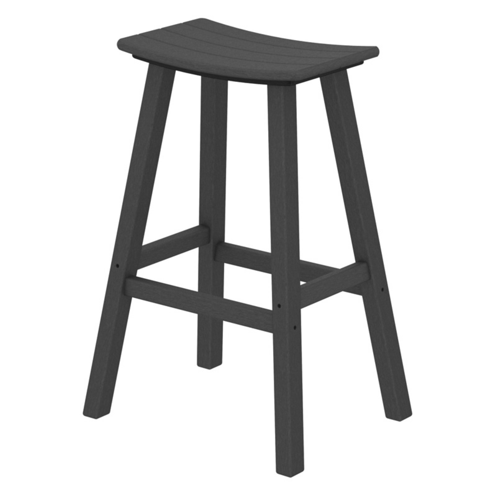 POLYWOOD Traditional 30 in. Saddle Bar Stool by Polywood