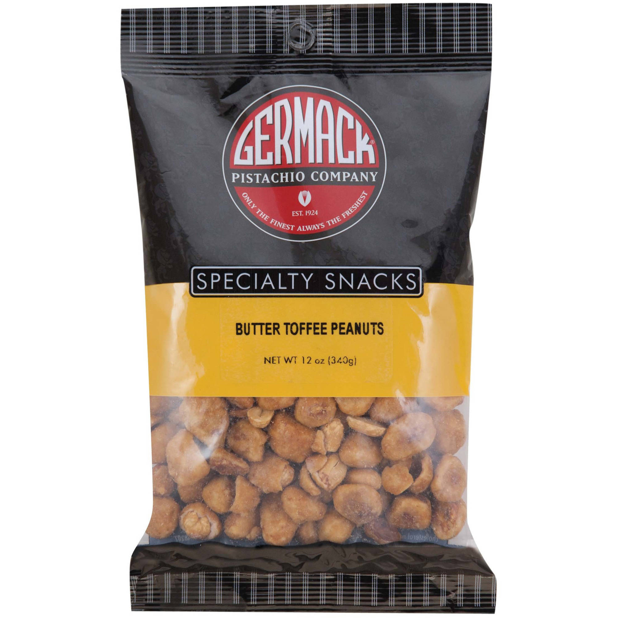 Germack Pistachio Company Specialty Snacks Butter Toffee Peanuts, 12 oz by GERMACK