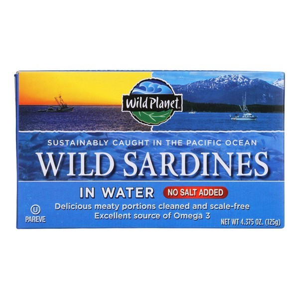 Wild Planet Sardines In Water - pack of 12 - 4.375 Oz.