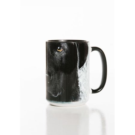 Black Lab Face 15oz Mug