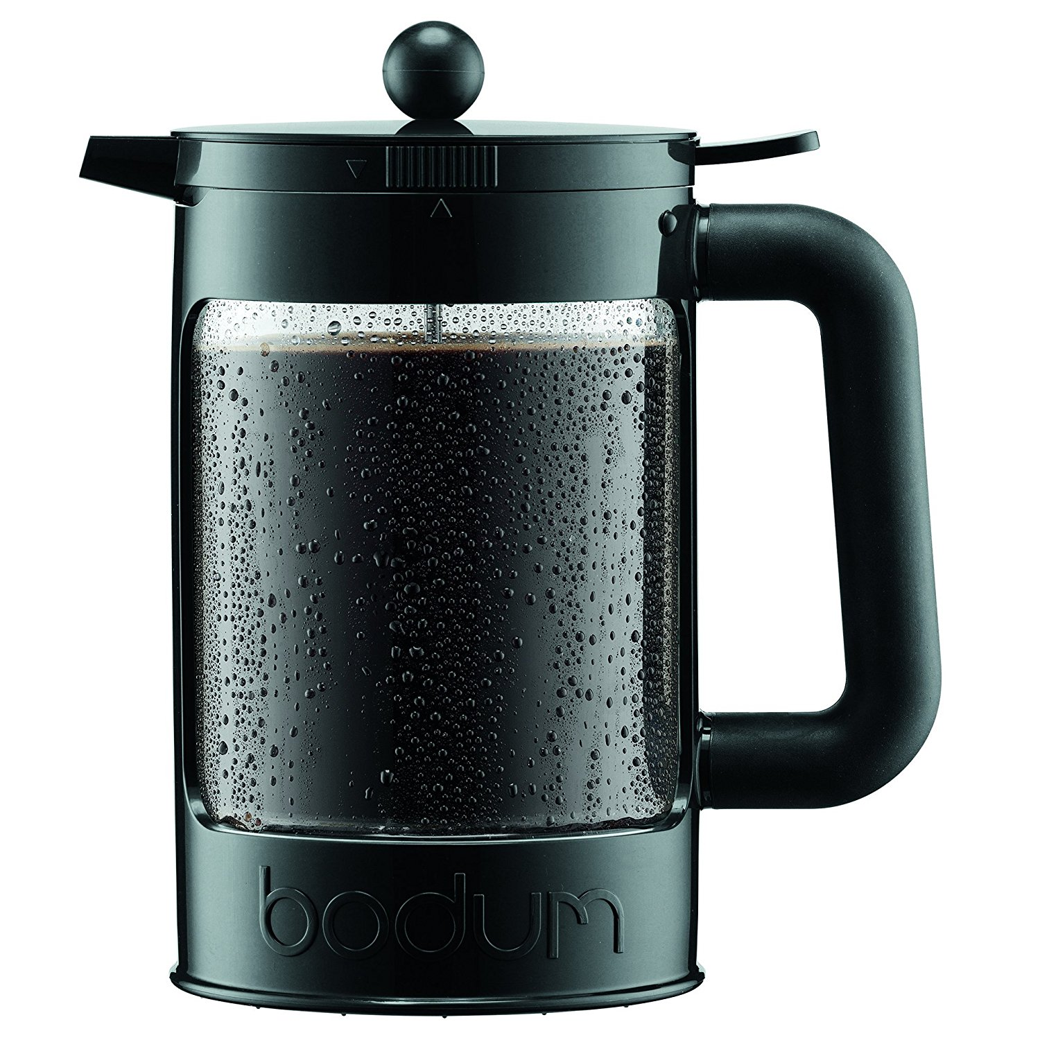 Bodum K11683-01 Bean Cold Brew Coffee Maker Set, 1.5 L/51 oz, Black
