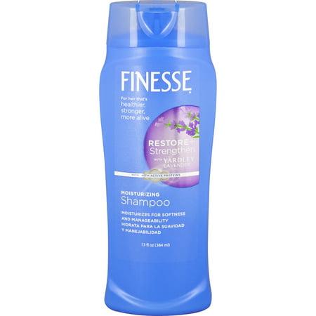 Finesse Restore + Strengthen with Yardley Lavender Shampoo, 13 Oz Lavender Color Brightening