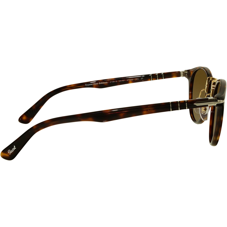 3eeea6a77d Persol - Persol Men s Polarized PO3108S-24 57-47 Brown Round Sunglasses -  Walmart.com