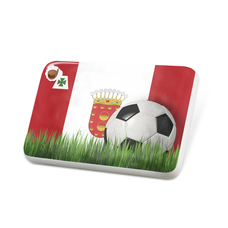 Porcelein Pin Soccer Team Flag La Gomera region Spain Lapel Badge – NEONBLOND