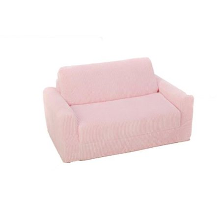 Fun Furnishings 11302 Pink Chenille Sofa Sleeper With Pillows - image 1 of 1