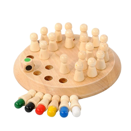 Wooden Memory Match Stick Chess Games Kids Early Educational Toy - Printable Halloween Memory Games