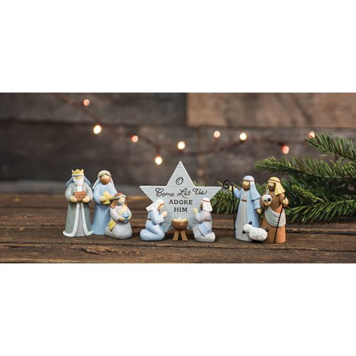 The Holiday Aisle 3 Piece Let Us Adore Him Nativity