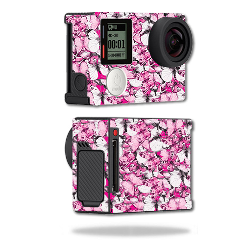 Skin For GoPro Hero4 Black Edition – Butterflies | MightySkins Protective, Durable, and Unique Vinyl Decal wrap cover | Easy To Apply, Remove, and Change Styles | Made in the USA