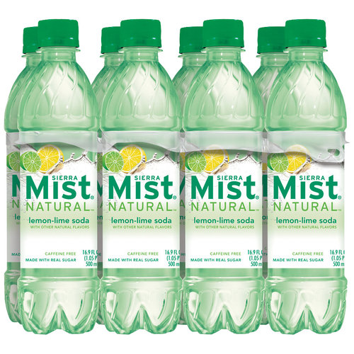 Sierra Mist Natural Soda, 16.9 oz, 8pk