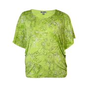 JM Collection Women's Ruched Fluttered Jersey Top