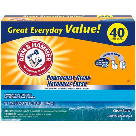 Arm & Hammer Plus OxiClean Powder Laundry Detergent, Clean Burst, 40 (Best Soap For Cleaning Wounds)
