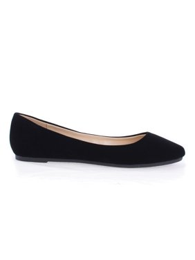 Jump99A by Bamboo, Sparkling Casual Pointed Toe Slip On Comfort Ballet Flat