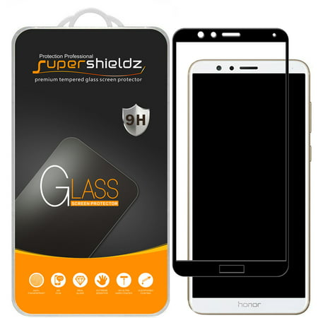[2-Pack] Supershieldz for Huawei Mate SE  [Full Screen Coverage] Tempered Glass Screen Protector, Anti-Scratch, Anti-Fingerprint, Bubble Free (Black Frame)](huawei mate 9 deals)
