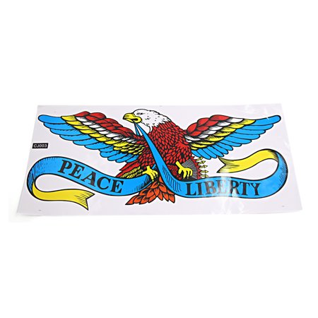Colorful Letters Graphic Eagle Pattern Self Adhesive Decal Sticker For Auto Car