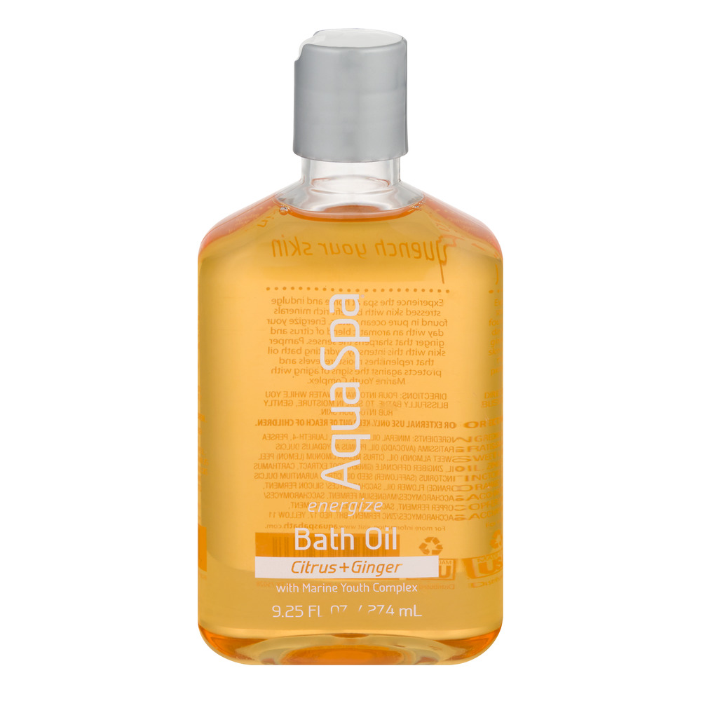 Aqua Spa Bath Oil Citrus + Ginger, 9.28 FL OZ