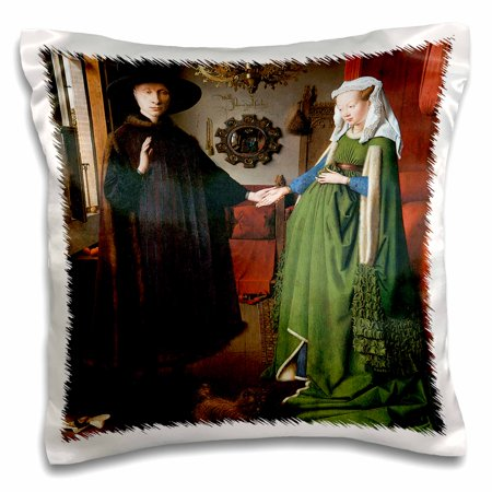 3dRose Portrait of Giovanni Arnolfini and His Wife by Jan Van Eyck - Pillow Case, 16 by (Giovanni Case)