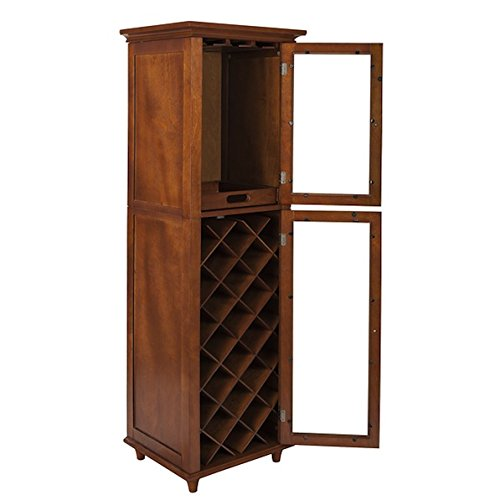 Custom Brown Living Room 20-bottle Wine Storage Cabinet