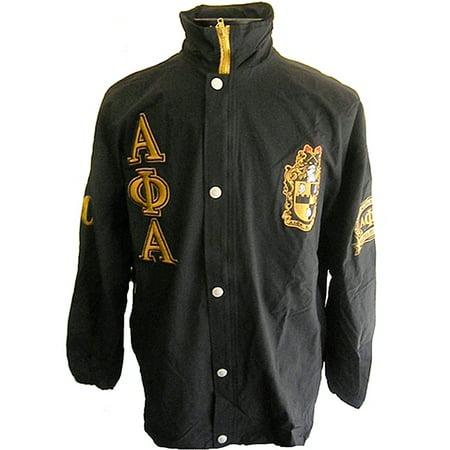 3a8412dbc Alpha Phi Alpha Fraternity Mens All-Weather Windbreaker Jacket [Black - 6XL]