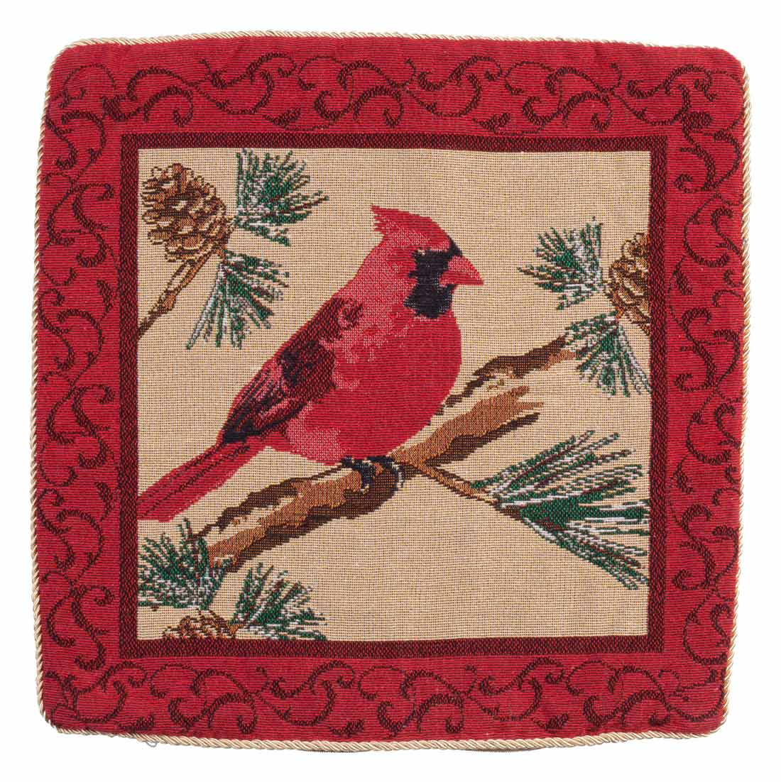 Cardinal Pillow Cover by Miles Kimball