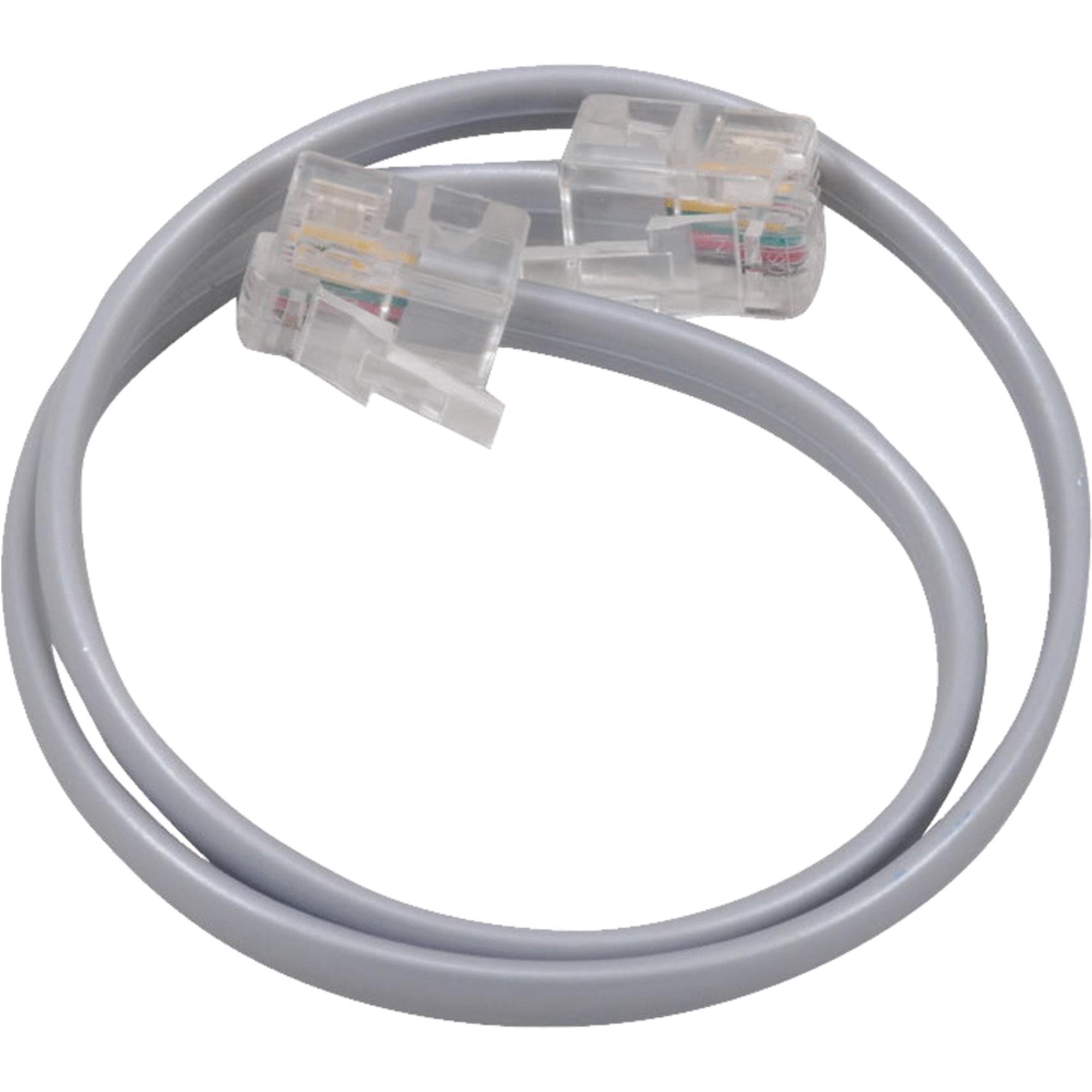 AUDIOVOX Phone Line Cord, Silver, 12-In. TP130R