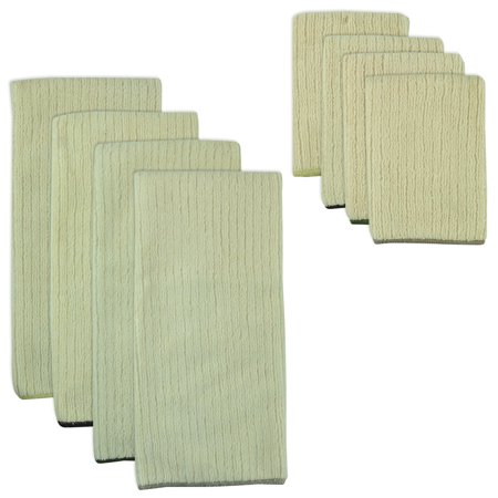 Design Imports Natural Trim Microfiber Towel and Cloth Set