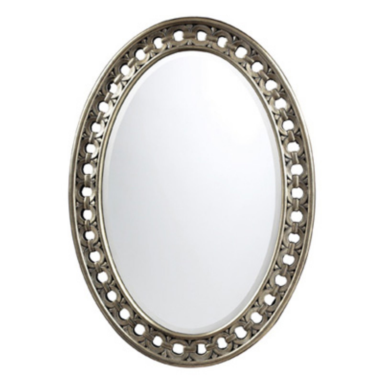 Sterling Sumner Antique Silver Wall Mirror - 24W x 34H in.