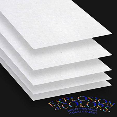 """Printable Inkjet Primed Gessoed 8.5"""" x 11"""" Canvas Paper Sheets - Choose Pack"""