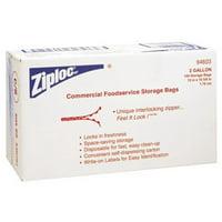 Johnson Diversey 395-94603 Case- 100 Ziplock Bags Two Gallon Storage 1.75 Ml