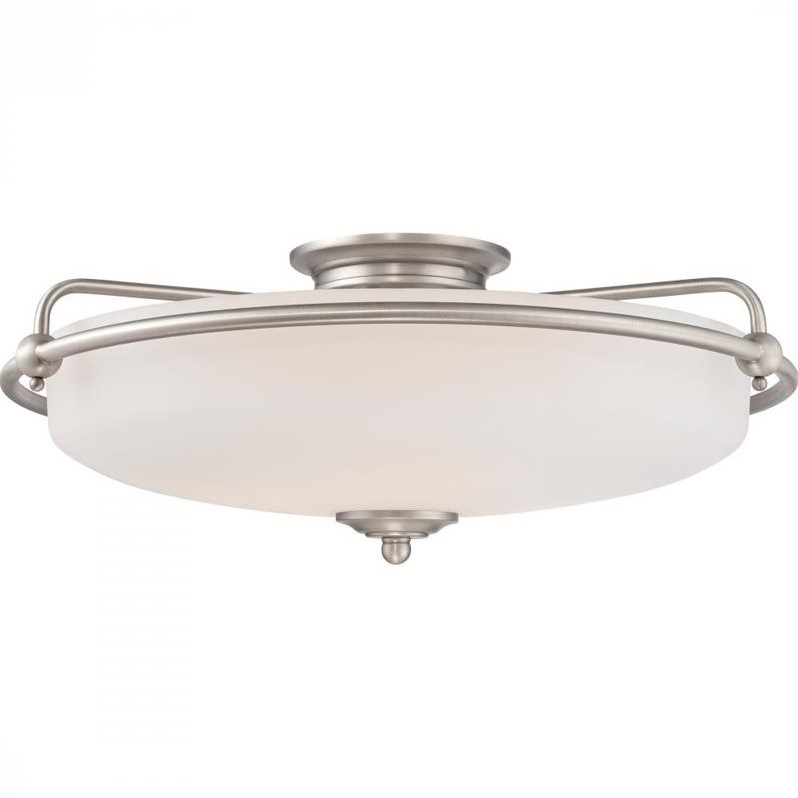 Quoizel Griffin Extra Large Floating Flush Mount in Antique Nickel