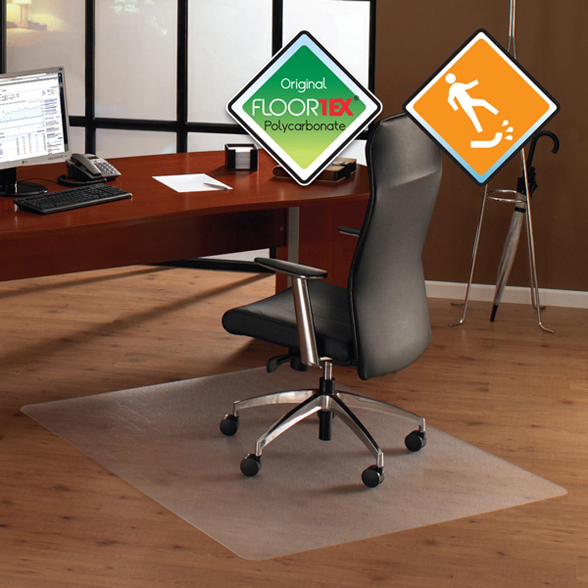 Floortex Cleartex Ultimat 35 x 47 Chair Mat for Hard Floor, Rectangular