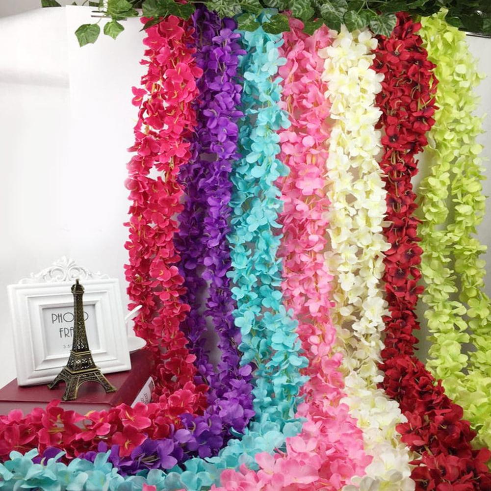 Micelec Artificial Flower Hanging Garland Plant Floral Vine Wedding Party Home Decor