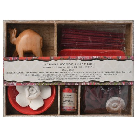 Incense Gift - Incense Gift Box With Camel/ceramic Flower