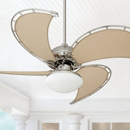 52 Quot Casa Vieja Ceiling Fan With Light Led Brushed Nickel